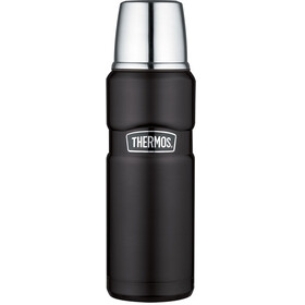 Thermos King Drinkfles 470ml zwart/zilver